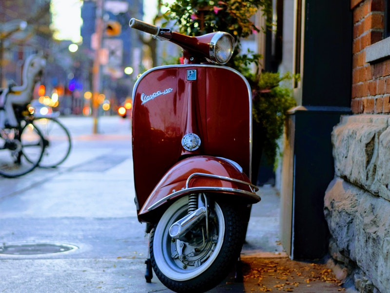 vespa made in Itali